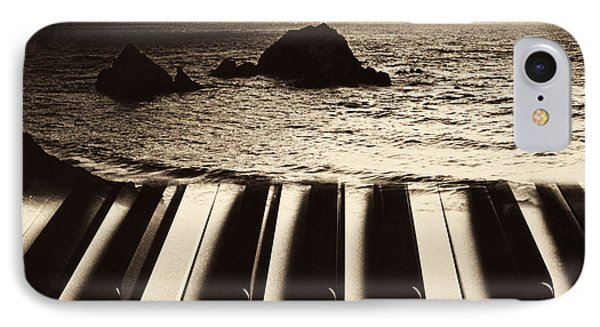 Ocean Washing Over Keyboard IPhone Case by Garry Gay