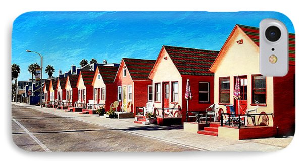 Oceanside Beach Cottages Phone Case by Glenn McCarthy Art and Photography