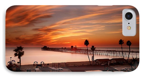 Oceanside Sunset 10 IPhone Case by Larry Marshall