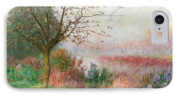 October Morning On The River Lys IPhone Case by Emile Claus