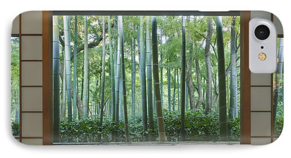 Okochi Sanso Villa Bamboo Garden IPhone Case by Rob Tilley