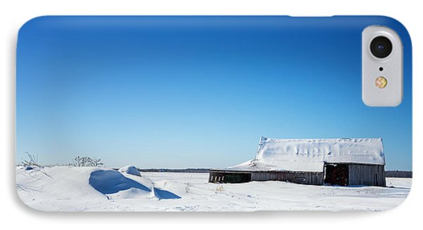 Old Barn And Snow Drifts Canada IPhone Case by Jane Rix