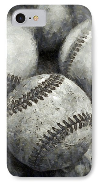Old Baseballs Pencil IPhone 7 Case by Edward Fielding