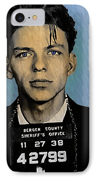 Old Blue Eyes - Frank Sinatra IPhone 7 Case by Bill Cannon
