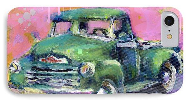 Old Chevy Chevrolet Pickup Truck On A Street IPhone Case by Svetlana Novikova