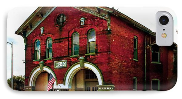 Old Firehouse No. 10 IPhone Case by Julie Dant