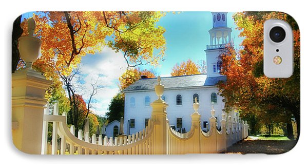Old First Church Of Bennington Phone Case by Thomas Schoeller