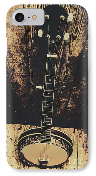 Old Folk Music Banjo IPhone Case by Jorgo Photography - Wall Art Gallery