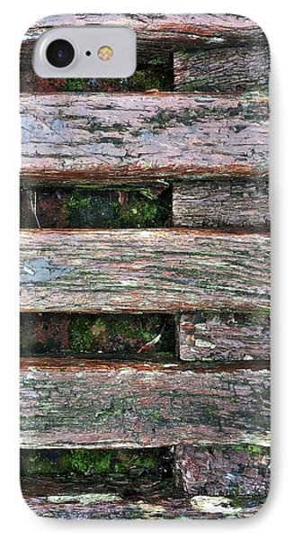 Old Grungy Wood Planks IPhone Case by Tom Gowanlock