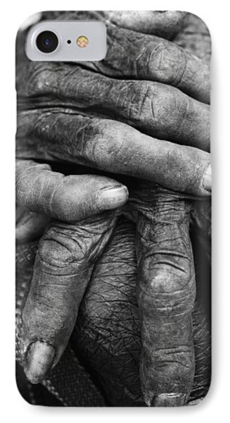 Old Hands 3 Phone Case by Skip Nall