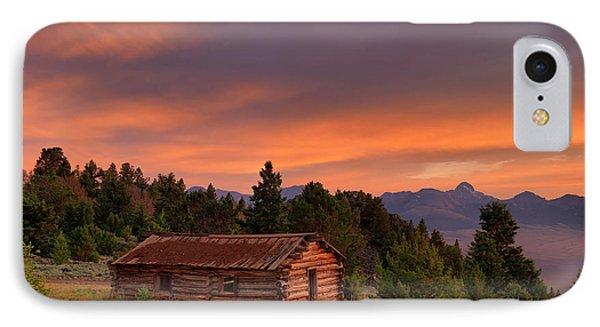 Old Log Cabin IPhone Case by Leland D Howard