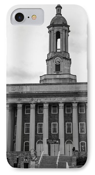 Old Main Penn State Black And White IPhone Case by John McGraw