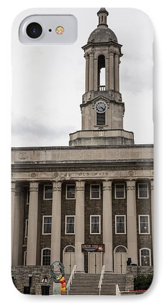 Old Main Penn State From Front  IPhone 7 Case by John McGraw