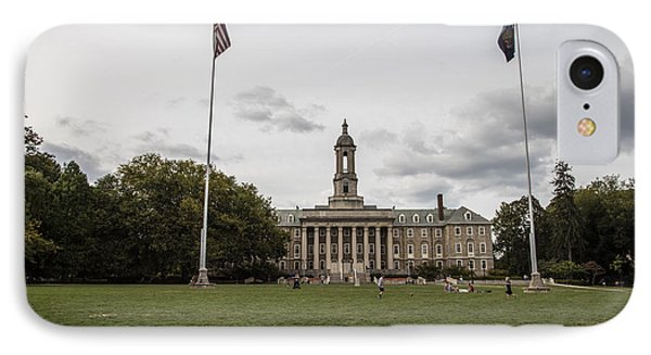 Old Main Penn State Wide Shot  IPhone Case by John McGraw