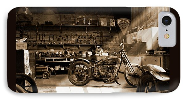 Old Motorcycle Shop IPhone Case by Mike McGlothlen