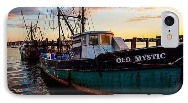 Old Mystic At Dock IPhone Case by Karol Livote