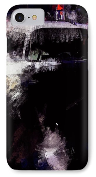 Old Police Cruiser IPhone Case by James Metcalf