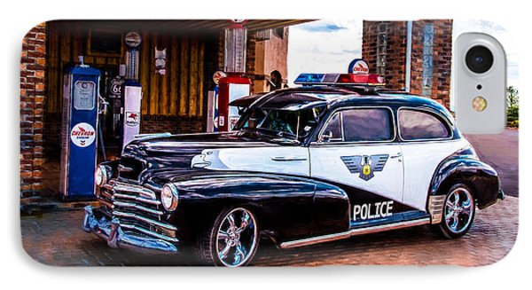 Old Police Cruiser IPhone Case by Sharon Vallentiny