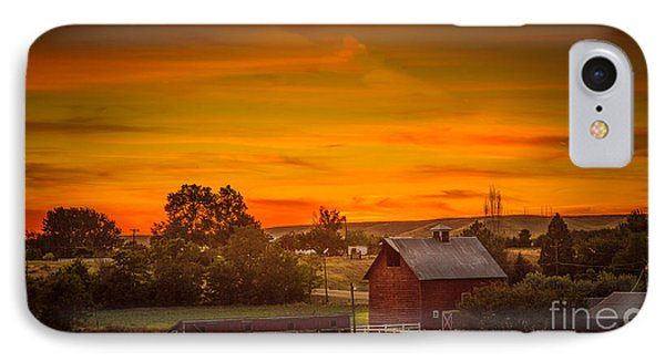 Old Red Barn IPhone Case by Robert Bales