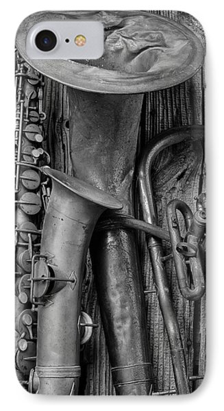 Old Sax And Tuba IPhone Case by Garry Gay