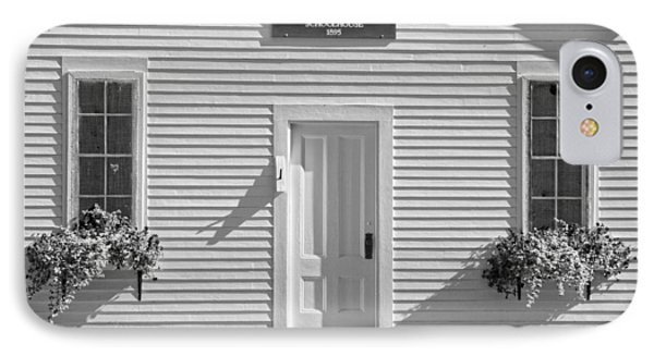 Old Schoolhouse Sunday River Maine Black And White IPhone Case by Keith Webber Jr