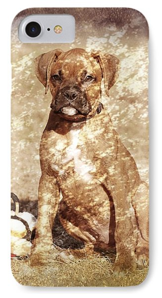 Old Time Boxer Portrait Phone Case by Angie Tirado