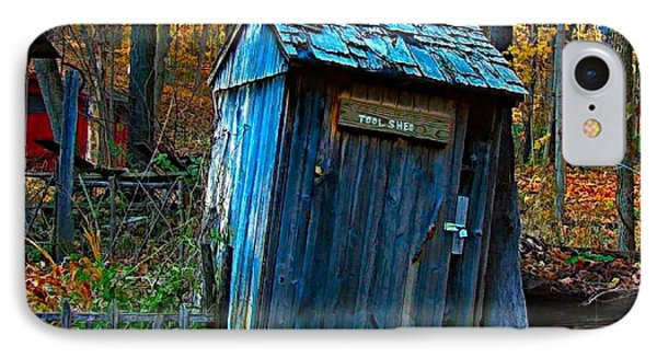 Old Tool Shed IPhone Case by Julie Dant
