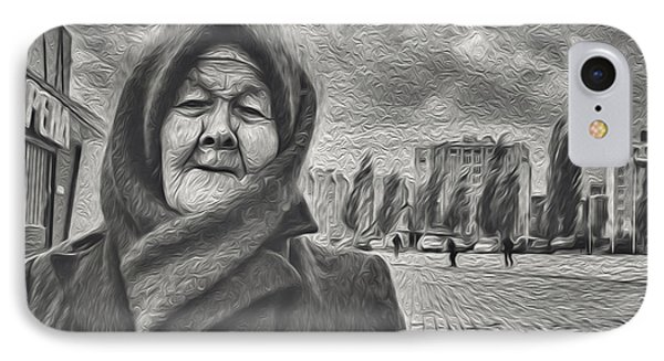 Old Woman And The Face Of Wind IPhone Case by John Williams