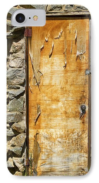 Old Wood Door And Stone - Vertical  Phone Case by James BO  Insogna