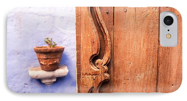 Old Wooden Door In Arequipa IPhone Case by Jess Kraft