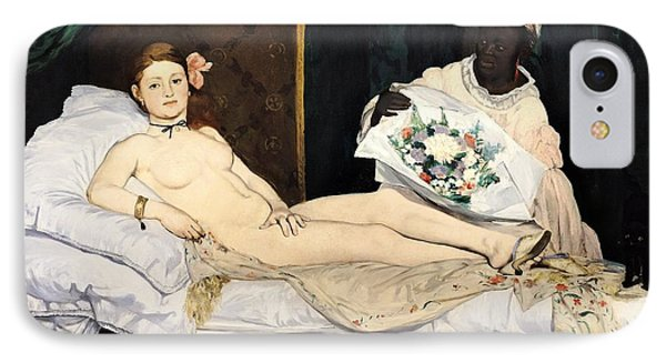 Olympia IPhone Case by Edouard Manet