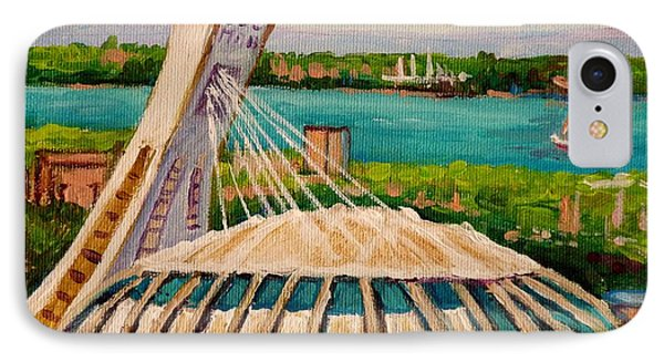 Olympic Stadium  Montreal IPhone Case by Carole Spandau