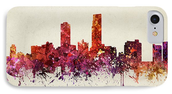 Omaha Cityscape 09 IPhone Case by Aged Pixel