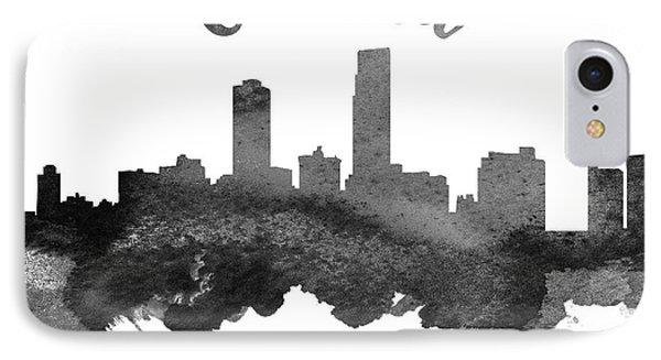 Omaha Nebraska Skyline 18 IPhone Case by Aged Pixel
