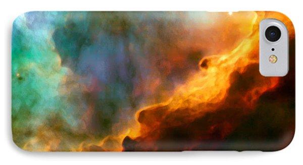 Omega Swan Nebula 3 IPhone Case by Jennifer Rondinelli Reilly - Fine Art Photography