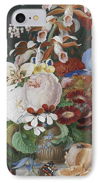 On A Marble Ledge   Detail IPhone Case by Franz Bauer