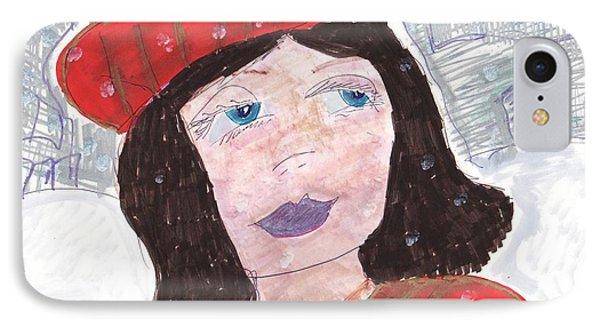 On A Snowy Day IPhone Case by Elinor Rakowski