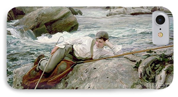 On His Holidays IPhone 7 Case by John Singer Sargent