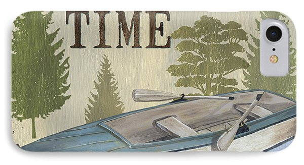 On Lake Time IPhone Case by Debbie DeWitt