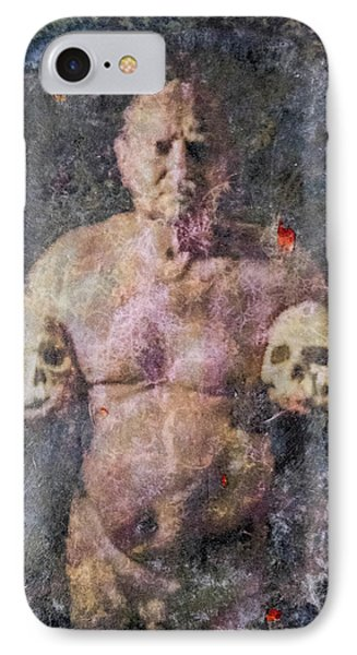 On The Altar Of Skull Carson #3. A Self-portrait, 2016 IPhone Case by Wayne Higgs