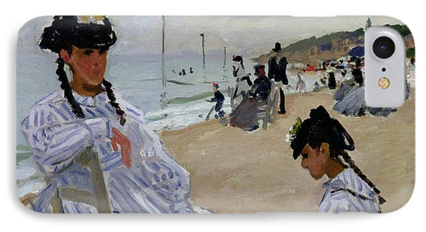 On The Beach At Trouville IPhone Case by Claude Monet