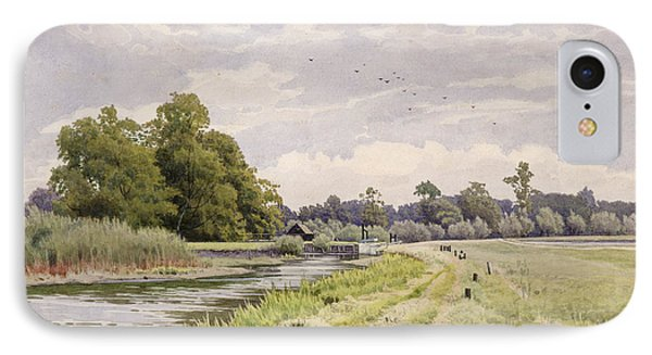 On The River Ouse Hemingford Grey IPhone Case by William Fraser Garden