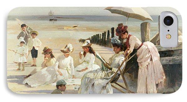 On The Shores Of Bognor Regis IPhone Case by Alexander M Rossi