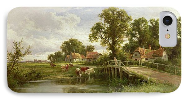 On The Thames Near Marlow IPhone Case by Henry Parker