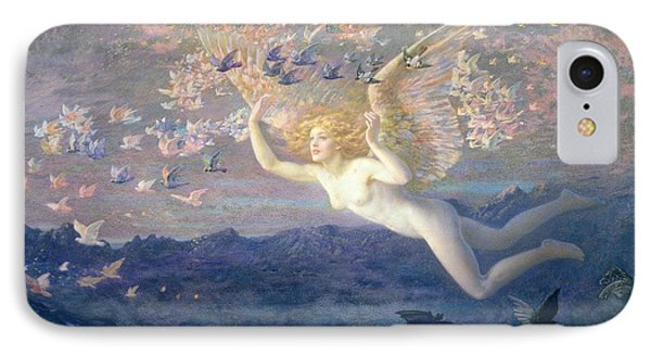 On The Wings Of The Morning IPhone Case by Edward Robert Hughes