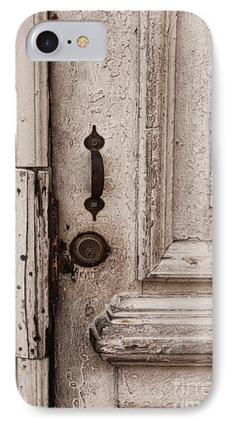 Once A White Door IPhone Case by Ana V Ramirez