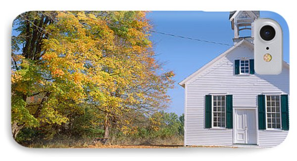 One-room Schoolhouse In Upstate New IPhone Case by Panoramic Images
