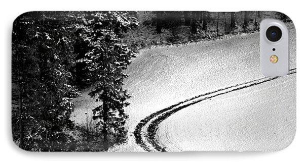 One Way - Winter In Switzerland IPhone Case by Susanne Van Hulst