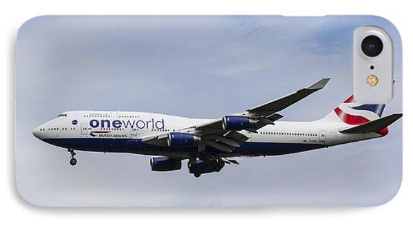 One World Boeing 747 IPhone Case by David Pyatt