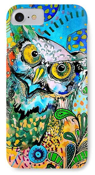 Oogke Owl IPhone Case by Amy Sorrell
